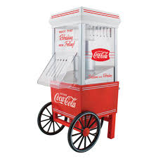 nostalgia coca cola air popcorn maker ofp501coke the home depot