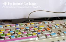 littledecorationideas personalized keyboard papier bonbon