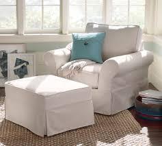 pottery barn chair and a half slipcover pb comfort roll arm slipcovered armchair pottery barn