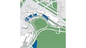 Boston Airport Terminal Map by