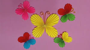 How To Make Butterfly With Color Paper Diy Paper Butterflies Color Paper