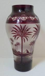 Fire Vase Thegildedcurio Com Kralik Cameo Glass Vase Lamp Base With