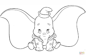 dumbo coloring pages big ears dumbo coloring page free printable