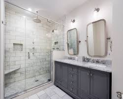 White Marble Bathroom by Carrera White Marble Bathroom Transitional With Shower Rain Head