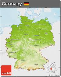 geographical map of germany free physical map of germany single color outside