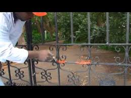 fixing a rusty gate great tips youtube