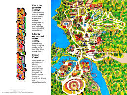 6 Flags Map Six Flags Great Adventure And Safari The History Of Six Flags