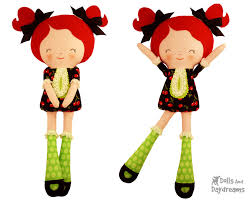button joint doll pdf sewing pattern easy rag doll cloth dolly