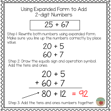 2 Digit Addition Worksheets Expanded Form Addition Worksheets U0026 Grade 4 Place Value Rounding