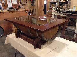 Wine Coffee Table Todd Swan Custom Woodworking Wine Barrel Coffee Table Wine Barrel