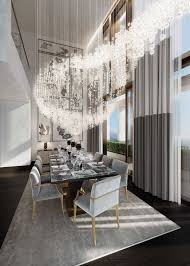 Contemporary Dining Room Chandelier Bathroom Design Luxury Dining Rooms Modern Room Lighting