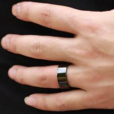 8mm ring 8mm 6mm black color cool simple men ring stainless steel