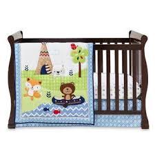 Woodland Animals Crib Bedding Cuddletime Boys Adventure Land 3 Crib Set Woodland Animals