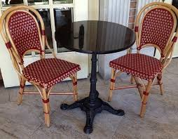 Wicker Bistro Chairs Rattan Wood Bistro Dining Chairs