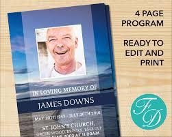 program for memorial service funeral program template order of service memorial program