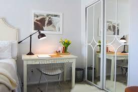 mirrored closet doors makeover sliding shower door with mirror