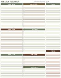 sample weekly agenda sample weekly study schedule template 12