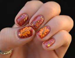 thanksgiving nails beautify themselves with sweet nails