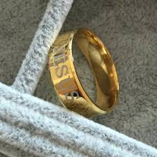 size 7 13 2015 new 18k plated classic gold men rings black mimmie s 18k gold plated 316l stainless steel finger ring for