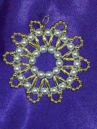 scalloped ornament bead craft kit heirloom quality