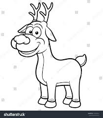 vector illustration deer cartoon coloring book stock vector