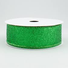 emerald green ribbon 1 5 shimmering glitter wired ribbon emerald green 10 yards