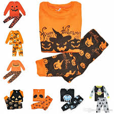 Boys Pumpkin Halloween Costume Baby Girls Boys Clothing Sets Toddler Pajamas Suit Pumpkin