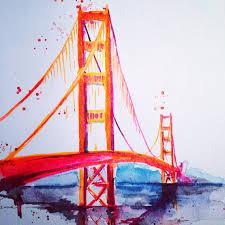 san francisco golden gate bridge travel watercolor lana moes
