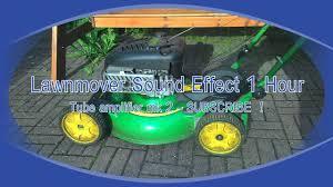 lawn mower engine sound effect 1 hour youtube