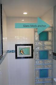 Bathroom Glass Shower Ideas by 91 Best Glass Block Colored U0026 Frosted Images On Pinterest Glass