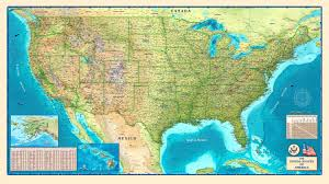 can you me a map of the united states united states physical wall map by compart maps