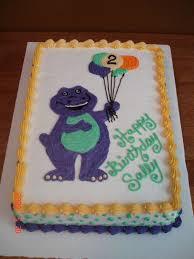 Diy Barney Decorations Barney Cakes Birthday And Party Cakes Barney Birthday Cake 2010
