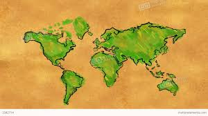 Watercolor Map Of The World by World Map Sketch Watercolor On Old Paper Looping A Stock Animation