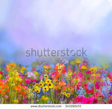 abstract colorful oil painting red pink stock illustration