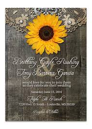 sunflower wedding rustic sunflower wedding invitation lot paperie