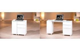 bureaux pas cher bureau pas cher bureau design extensible laqué blanc noe miliboo