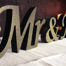 mr and mrs wedding signs mr and mrs wedding signs glitter mr from sunfla on etsy