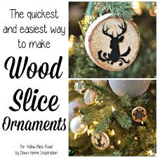 the quickest u0026 easiest way to make wood slice ornaments yellow