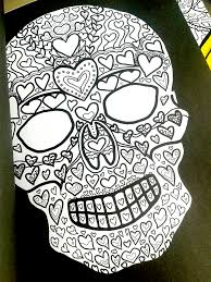 day of the dead sugar skulls coloring book illustrated