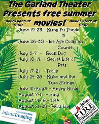 garland theater free summer movies summer ideas