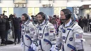 iss soyuz tma 19m crew board rocket ahead of launch youtube