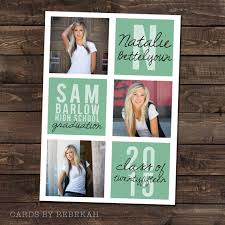 high school graduation announcement high school graduation announcement in mint with 3 photos high