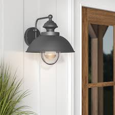 Outdoor Barn Light Fixtures by Beachcrest Home Nishi 1 Light Outdoor Barn Light U0026 Reviews Wayfair