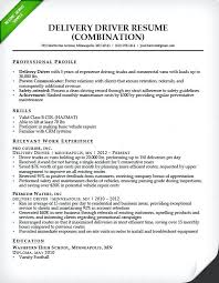 Freelance Resume Sample Sample Resume Canada Format Delivery Driver Combination Resume