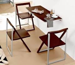 dining room space saving dining table and chairs with fold away