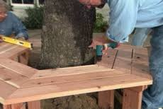 Tree Bench Ideas How To Build A Bench Around A Tree U2022 Ron Hazelton Online U2022 Diy