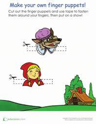 red riding hood finger puppets worksheet education
