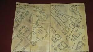Harry Potter Map My Homemade Marauder U0027s Map Replica Youtube