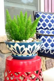blue and white pottery diy whats ur home story