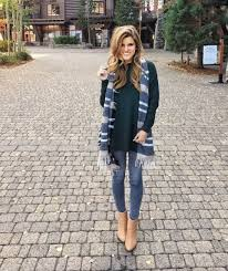 ways to wear short scarf for a more fashionable look what to wear with grey jeans 10 ideas to inspire